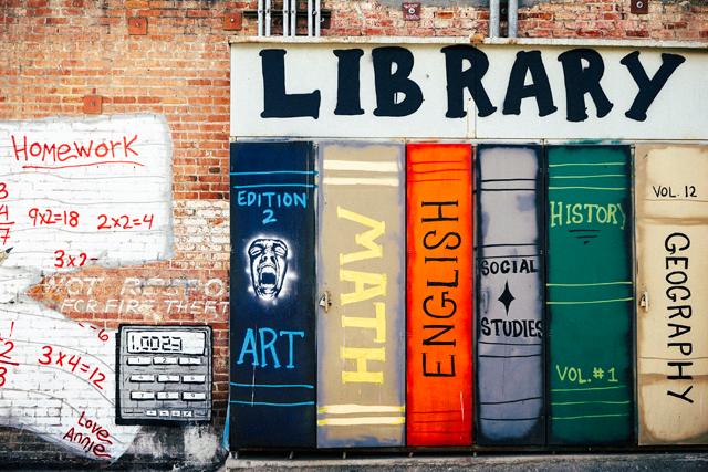 Graffiti de una librería