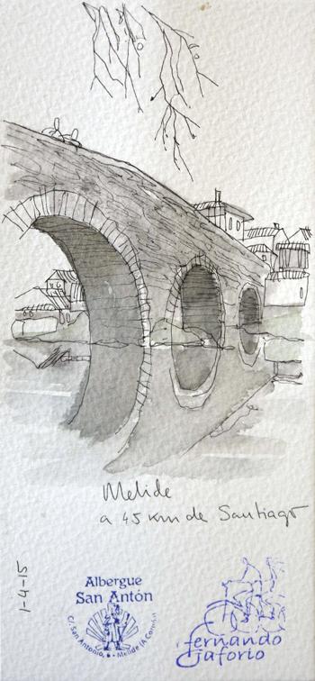 Ilustración de Melide de Fernando Gaforio