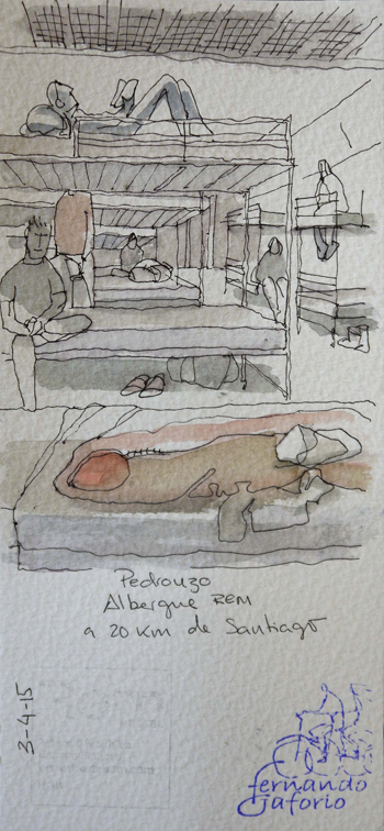 Ilustración de Pedrouzo de Fernando Gaforio.