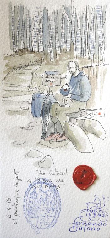 Ilustración del Río Catasol de Fernando Gaforio.