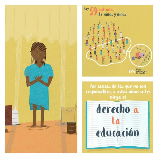 Infografía de la UNESCO sobre la falta de educación de los niños.