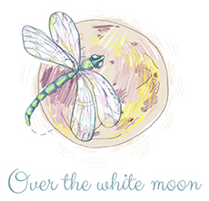 Over the white moon Logo