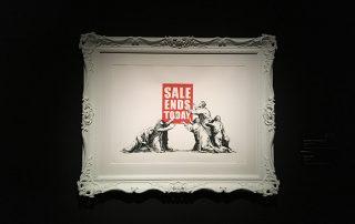 Imagen de la obra «Sale Ends Today», de Bansky.
