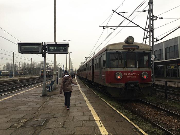 Estación de tren de Osviecim, Polonia.