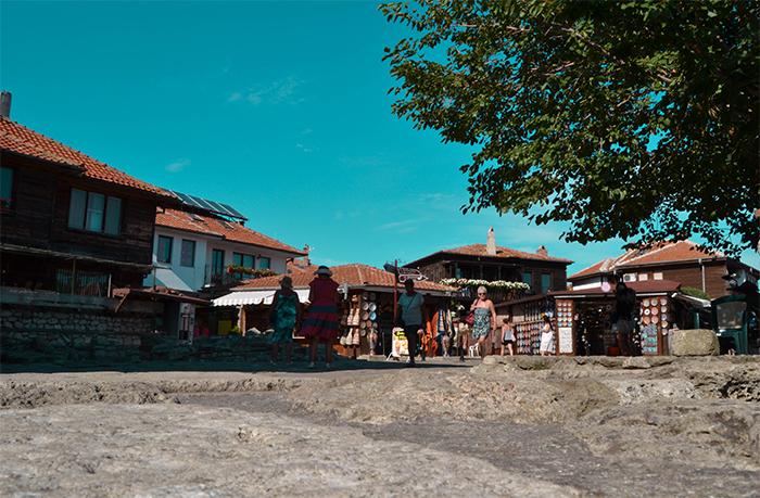 Imagen de las calles de Nessebar, en el mar Negro (Bulgaria).