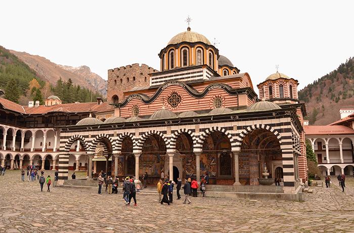 Imagen del Monasterio de Rila, en Bulgaria.