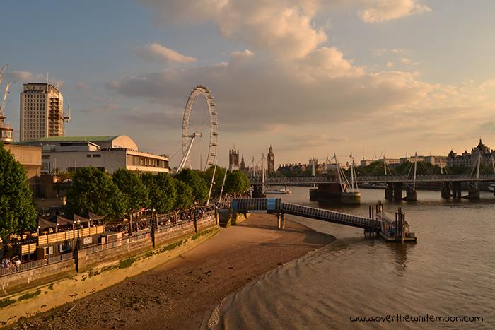 Vista panorámica de Londres, con el London Eye de fondo.