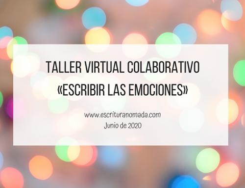 Taller virtual «Escribir las emociones»