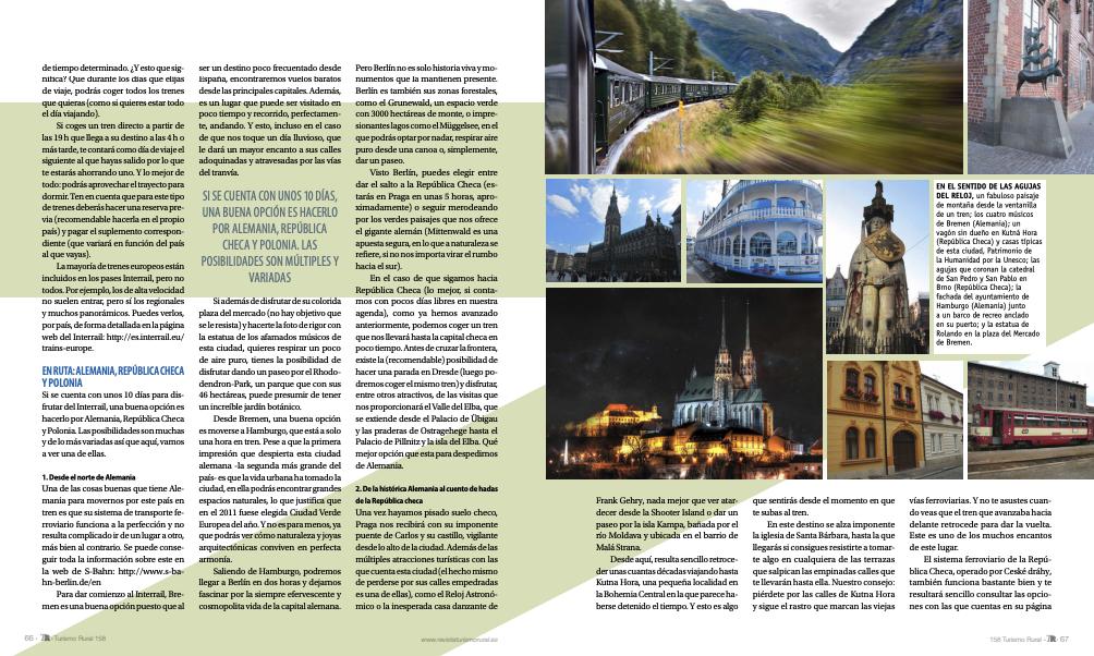 """Artículo publicado en la revista """"Turismo rural"""""""
