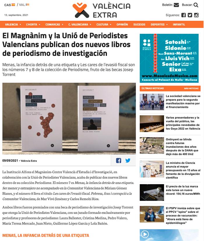 """Artículo publicado en """"València Extra""""."""